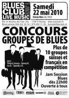 Bonny B blues contest poster