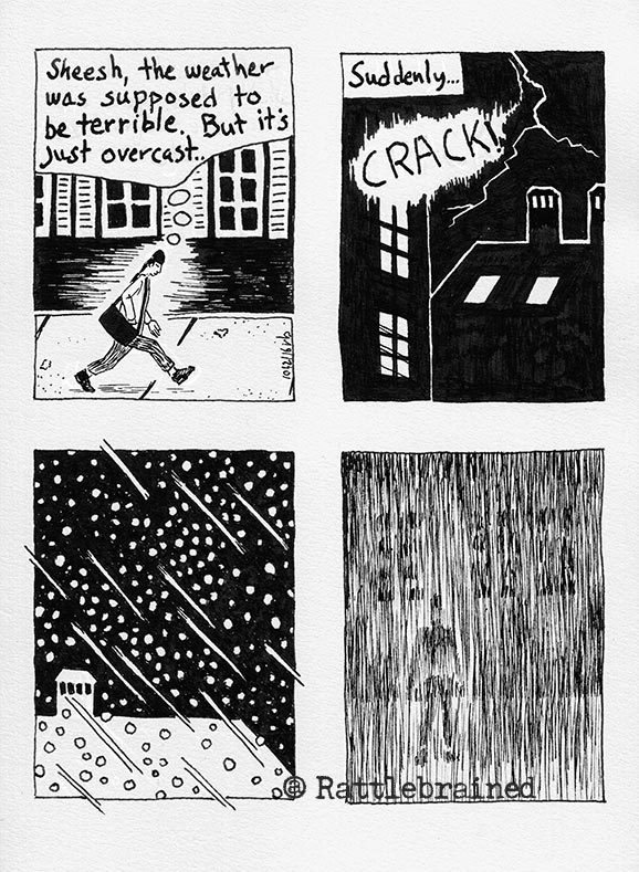 A comic about yesterday's weather
