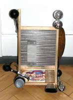 Columbus stainless steel washboard with bells and stuff