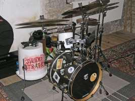 my drumset,  as it was on 11/11/11